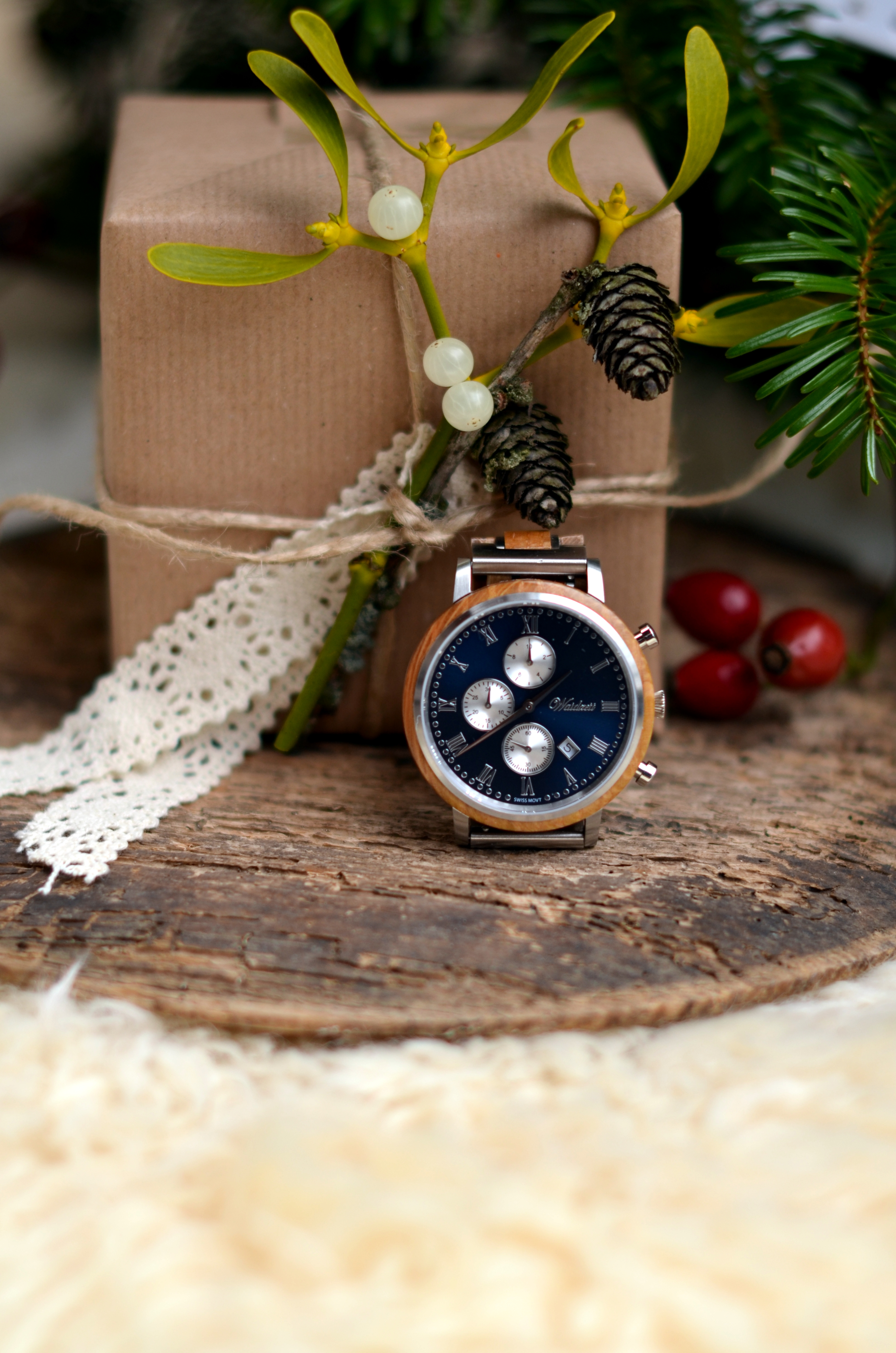 Chronograph Whisky Swiss Mountain blue Herrenuhr